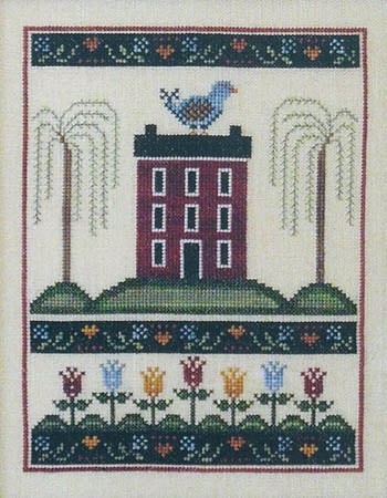 Tulip House ~ Annie Beez Folk Art