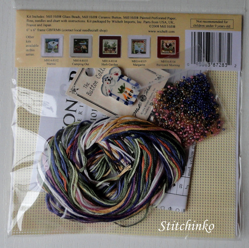 MILL HILL Buttons Beads Kit Counted Cross Stitch POTTING TABLE MH14-8101
