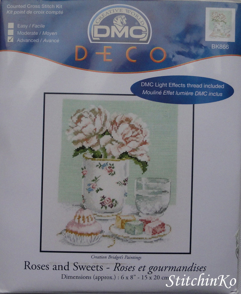 Roses and Sweets ~ DMC Cross Stitch Kits