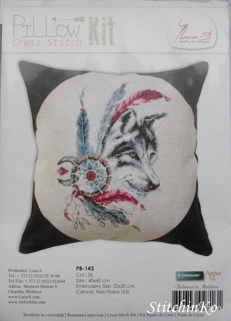 Luca-S . Pillow.  Dreamcatcher Wolf.