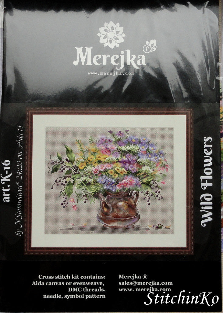 Merejka Cross Stitch Kits Wild Flowers