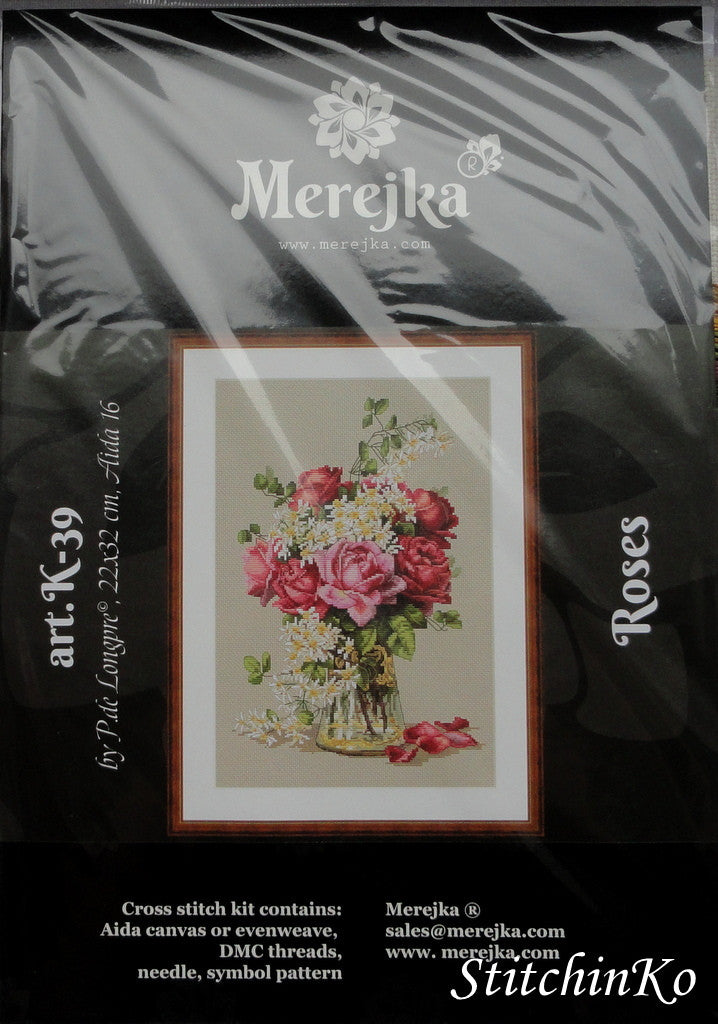 Merejka Cross Stitch Kits  Roses