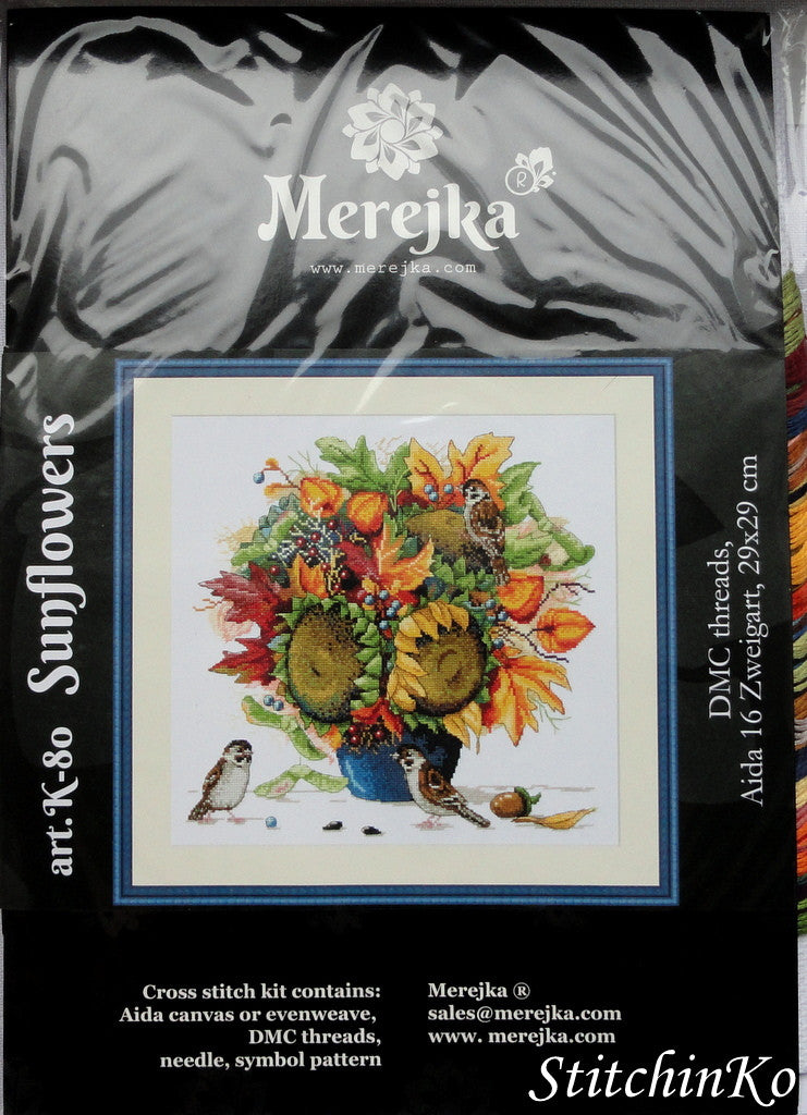 Merejka Cross Stitch Kits Sunflowers
