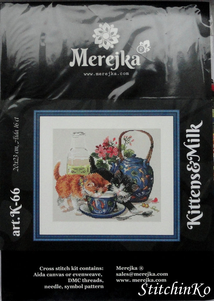 MEREJKA CROSS STITCH  Kittens and Milk
