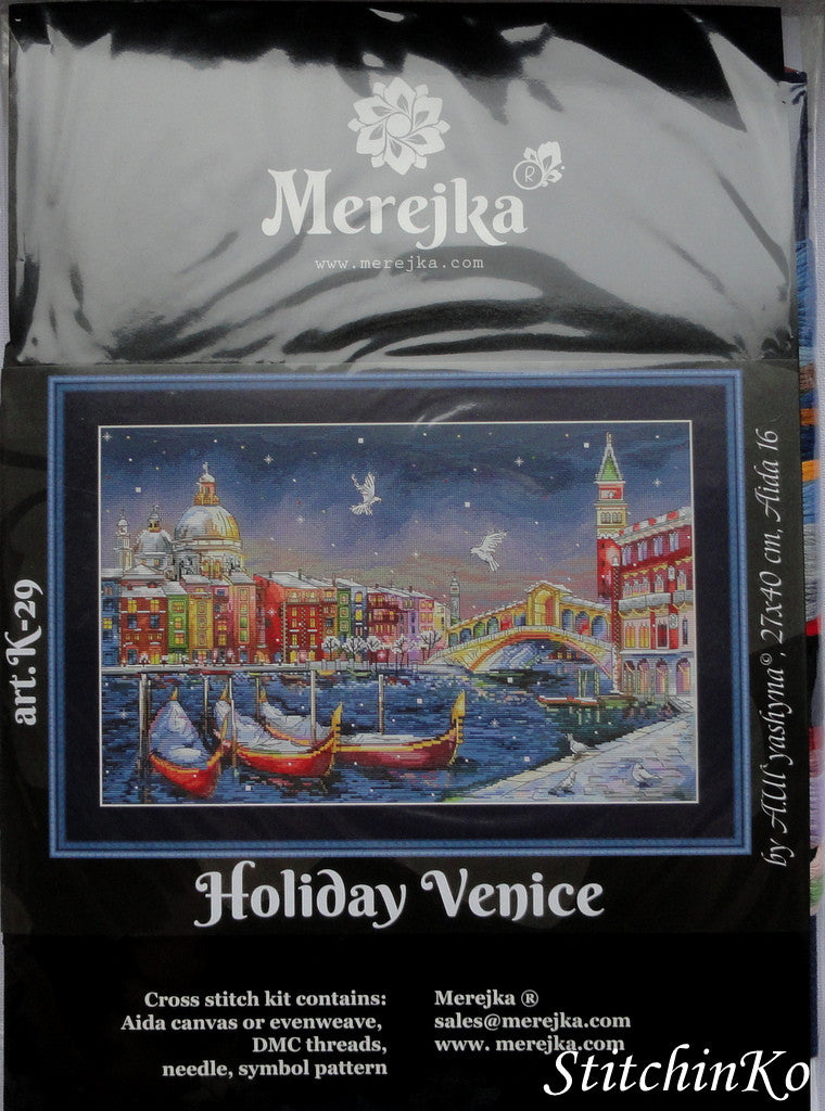 Merejka Cross Stitch Kits Holiday Venice