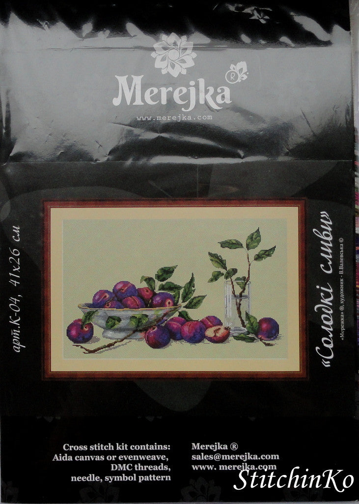 Merejka Cross Stitch Kits Sweet Plums