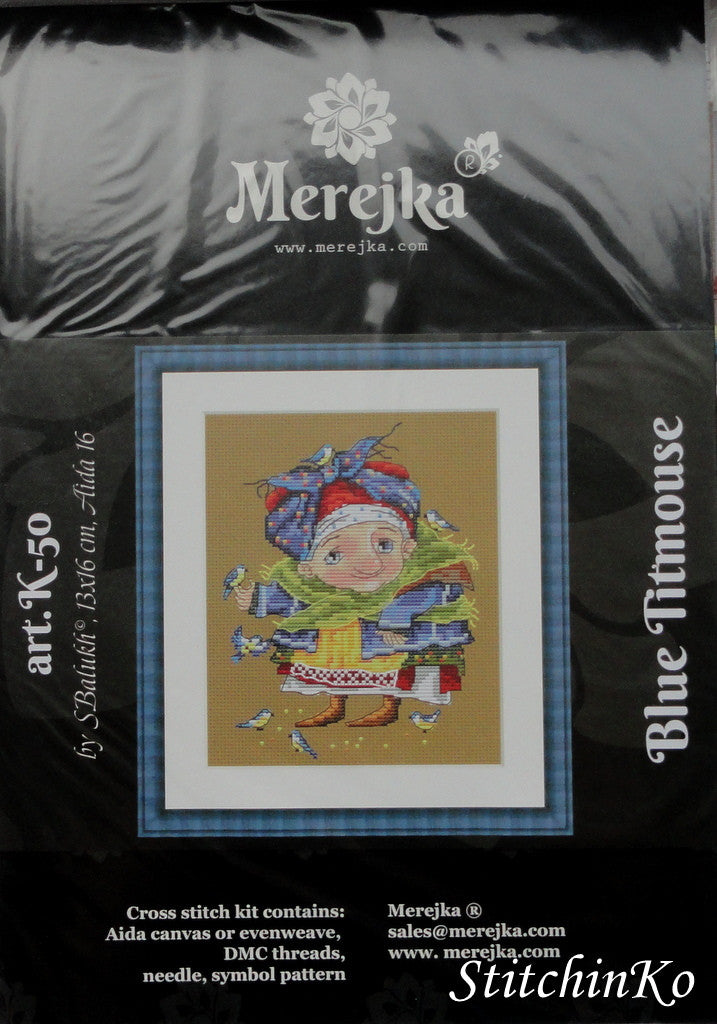 Merejka Cross Stitch Kits Blue Titmouse