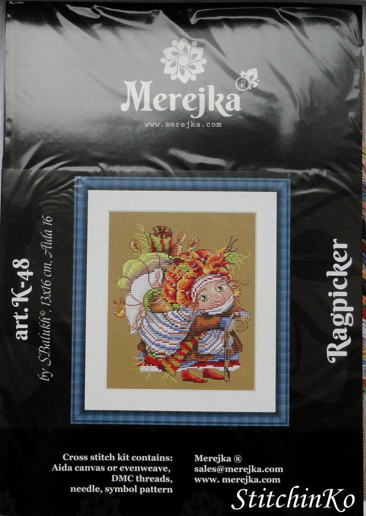Merejka Cross Stitch Kits Ragpicker
