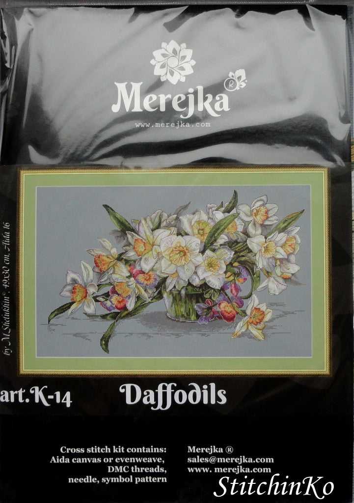 Merejka Cross Stitch Kits Daffodils