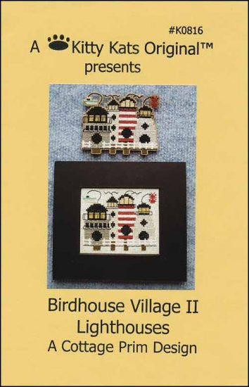 Birdhouse Village 2 Lighthouses ~ A Kitty Kats Original