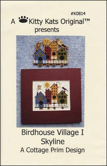 Birdhouse Village 1 Skyline ~ A Kitty Kats Original