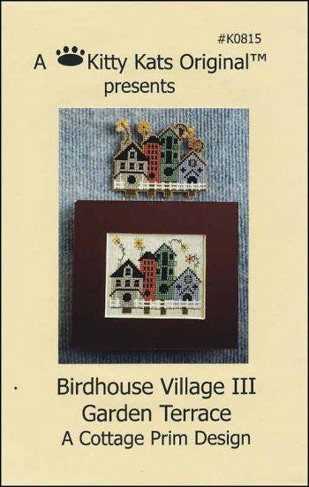 Birdhouse Village 3 Garden Terrace ~ A Kitty Kats Original