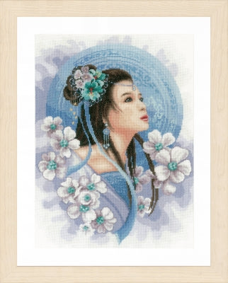 Asian Lady in Blue ~ Lanarte