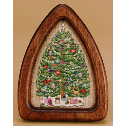 O'Tannenbaum with walnut frame ~  Kit #32 ~  The Hearts's Content, Inc