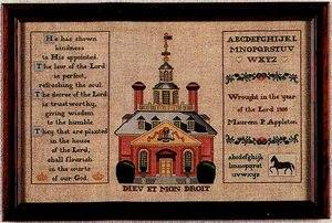 The Governors' Palace, Williamsburg, VA Sampler ~  Kit #4 ~  The Hearts's Content, Inc