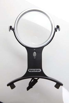 Lighted Hands Free Magnifier ~ Mighty Bright Lighting