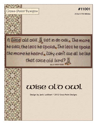 Wise Old Owl ~  Cross-Point Designs