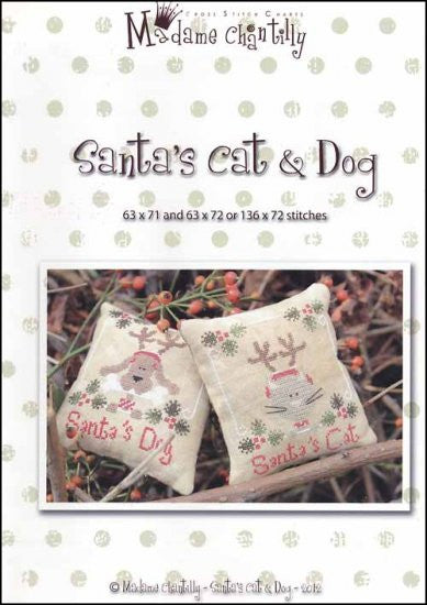 Santa's Cat & Dog ~  Madame Chantilly