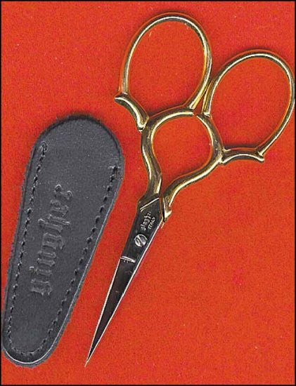 GINGHER GOLD HANDLED EPAULETTE EMBROIDERY SCISSORS