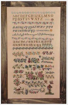 J Gebhard 1841 Sampler ~  Cross-Point Designs