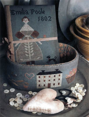 Emilia Poole Sewing Basket ~ Stacy Nash Primitives