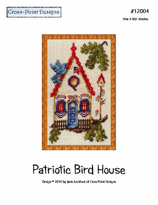 Patriotic Birdhouse ~  Cross-Point Designs