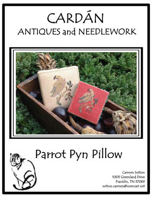 Parrot Pyn Pillow ~ Cardan Antiques & Needlework