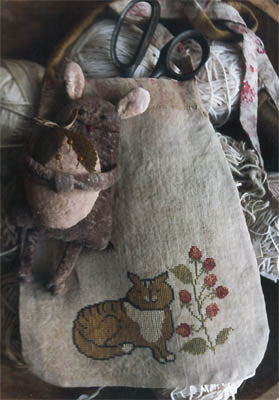 Tabby Cat Sewing Pouch ~ Stacy Nash Primitives