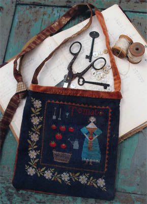 Tomato Harvest Sewing Bag ~ Stacy Nash Primitives
