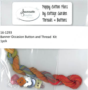 Banner Occasion Thread & Buttons Kit ~ Jeannette Douglas Designs