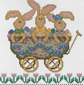 All Aboard The Bunny Express ~  Cross-Point Designs