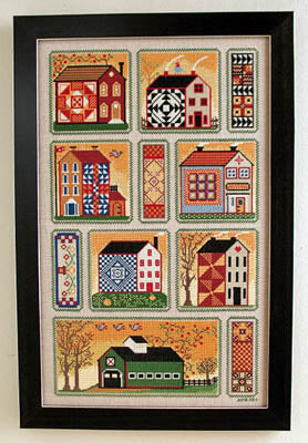 Quilty Neighborhood ~ Annie Beez Folk Art