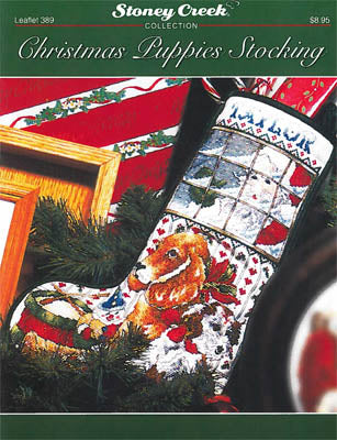 Christmas Puppies Stocking ~ Stoney Creek Collection