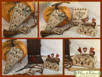 Autumn Colors Sewing Set ~ Mani Di Donna