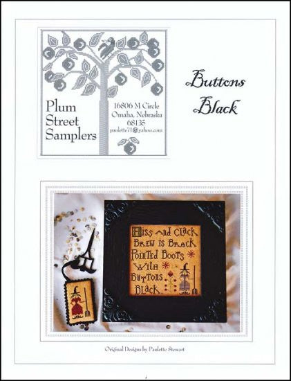 Buttons Black ~ Plum Street Samplers