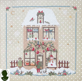 Christmas Avenue - Family House (includes 2 buttons) ~ Sara