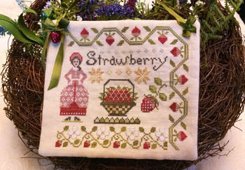 Dinah's Garden - Strawberry ~ Lila's Studio