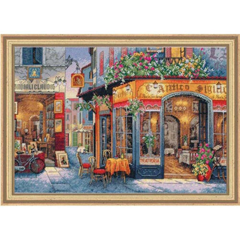 European Bistro ~ Dimensions Counted Cross-Stitch Kit