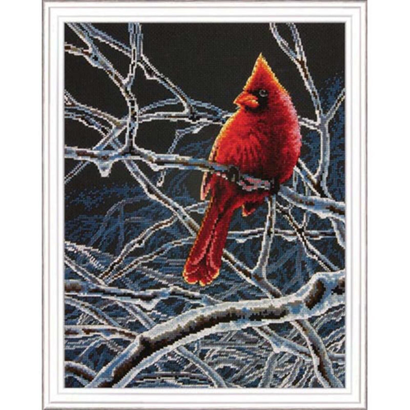 Ice Cardinal ~ Dimensions Counted Cross-Stitch Kit