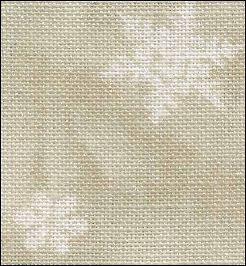 Neutral (Ecru) with White Snowflakes on Silver 28ct Linen ~ Fabric Flair