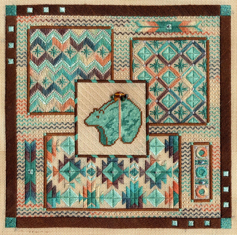 Turquoise Bear Collage ~ Laura J. Perin Designs