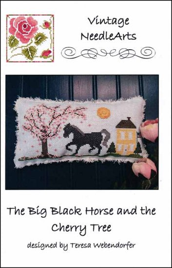 Big Black Horse And The Cherry Tree ~ Vintage NeedleArts