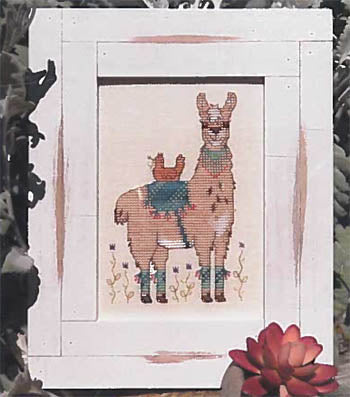 Hen And Her Llama  ~ Designs by Lisa