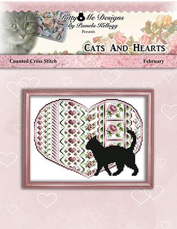 Cats And Hearts February ~ Kitty & Me Designs
