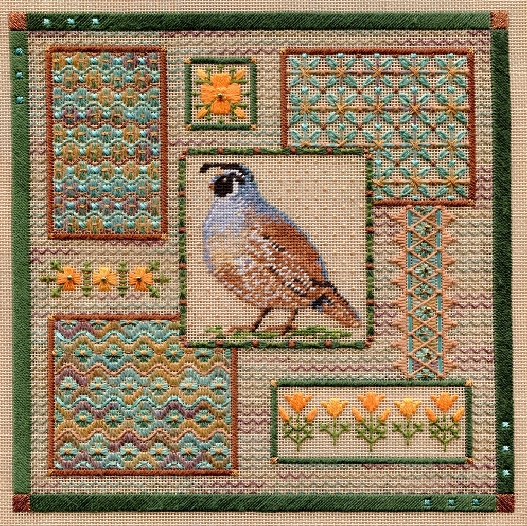 California Quail Collage ~ Laura J. Perin Designs