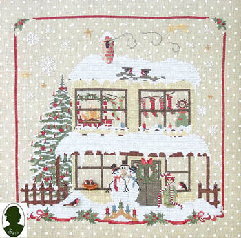 Christmas Avenue - Snowmen's House (includes 2 buttons) ~ Sara