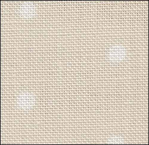 French Polka Dot Neutral 32ct Linen  ~ Fabric Flair