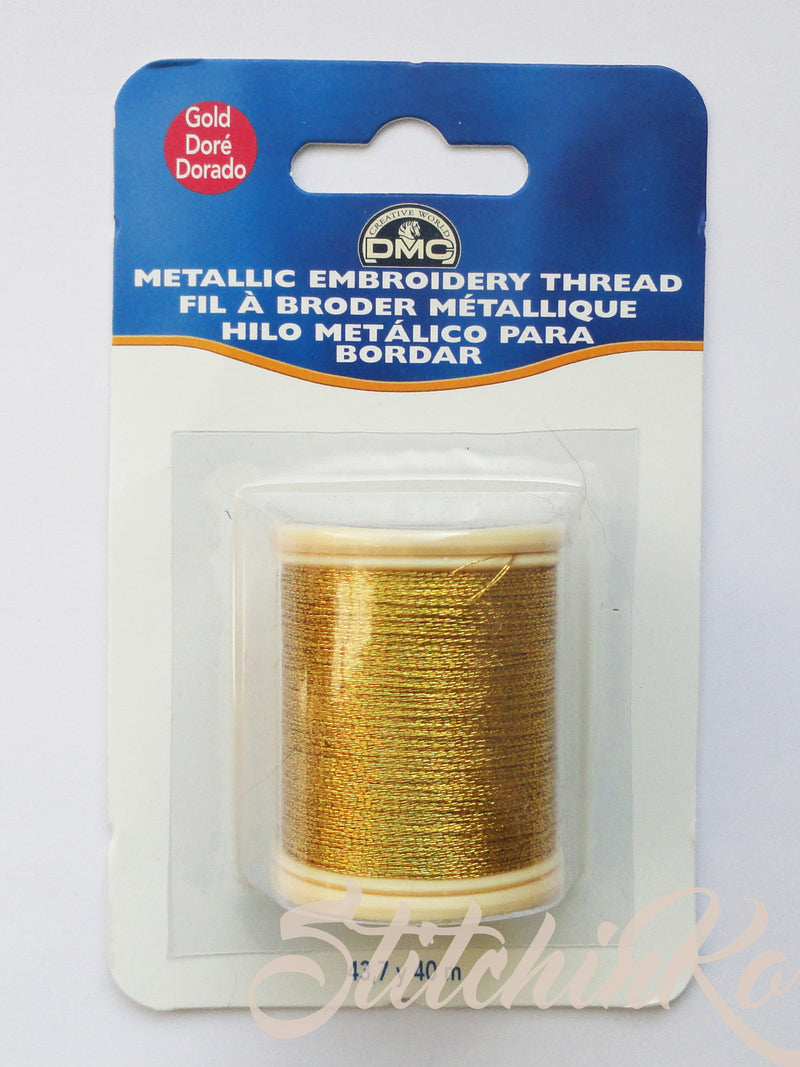 ~ DMC METALLIC FLOSS SPOOLS. GOLD (284Z) ~