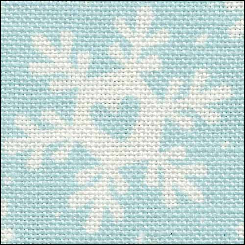 Funky Snowflakes 28ct Linen ~ Fabric Flair
