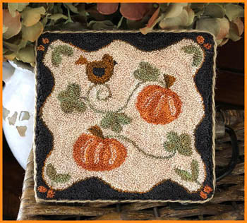 Country Pumpkins Punchneedle ~ Little House Needleworks